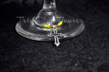 5 Crosses Wine Charms