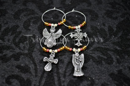 Angels & Crosses Wine Charms (#1)