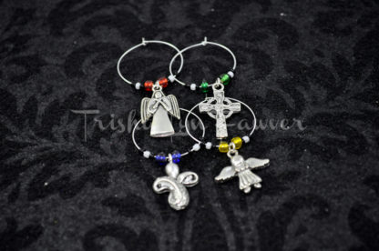 Angels & Crosses Wine Charms (#2)