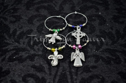 Angels & Crosses Wine Charms (#3)