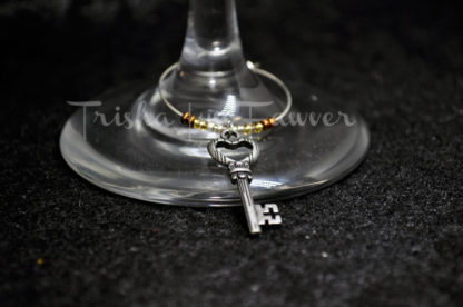 Antique Keys Wine Charms