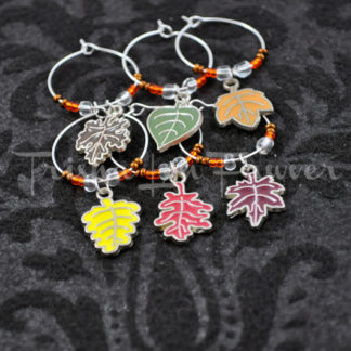 Autumn Leaves Wine Charms (#2)