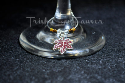 Autumn Leaves Wine Charms (#3)