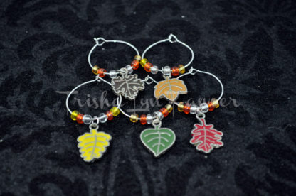 Autumn Leaves Wine Charms (#4)