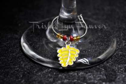 Autumn Leaves Wine Charms (#5)