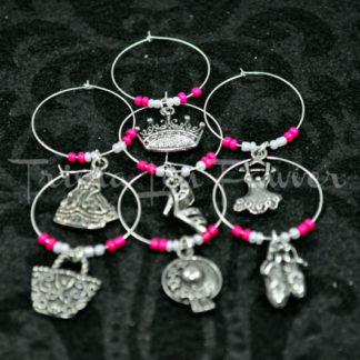 Ballerina Princess Wine Charms