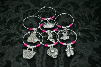 Ballerina Princess Wine Charms