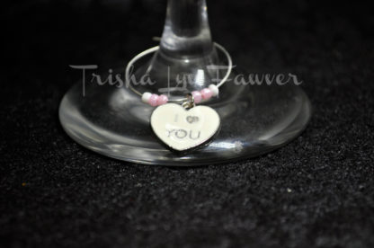 Conversation Hearts Wine Charms (#2)