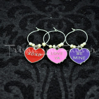 Conversation Hearts Wine Charms (#3)