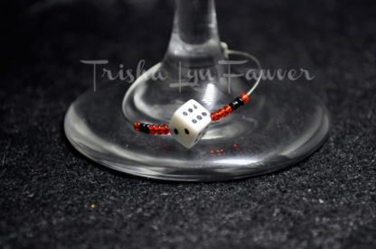 Dice Wine Charms