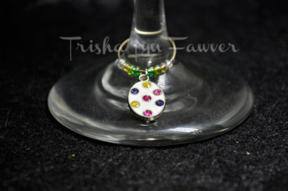 Easter Egg Wine Charms (#2)