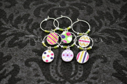 Easter Egg Wine Charms (#3)