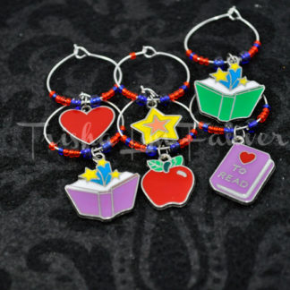 Education & Books Wine Charms (#1)
