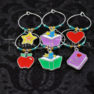 Education & Books Wine Charms (#2)