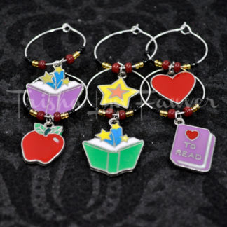 Education & Books Wine Charms (#3)