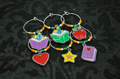 Education & Books Wine Charms (#4)
