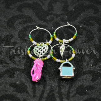 Girly Wine Charms
