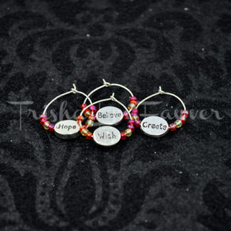 Hope/Wish/Create/Believe Wine Charms