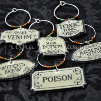 Halloween Labels Wine Charms