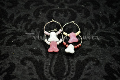 Breast Cancer Awareness Wine Charms (#1)