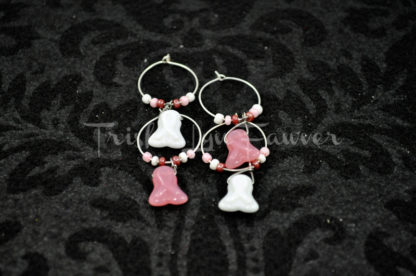 Breast Cancer Awareness Wine Charms (#2)