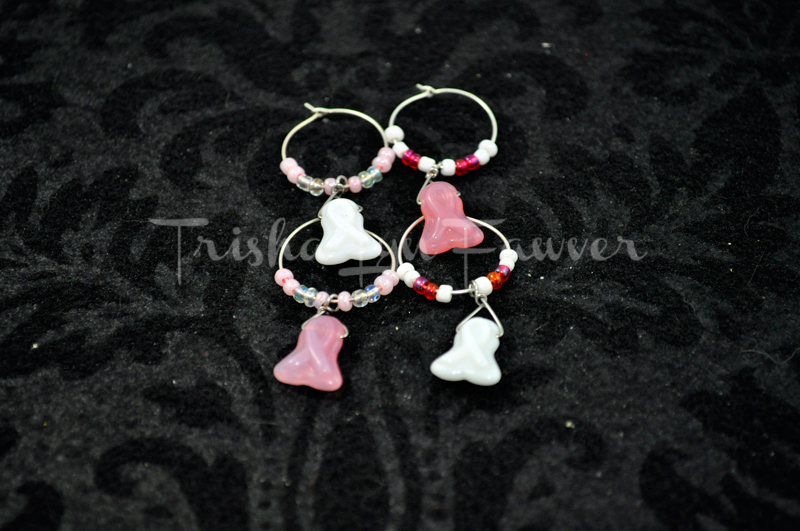 Breast Cancer Awareness Wine Charms (#3)