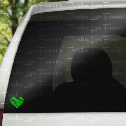 Baseball Love Vinyl Decal in Green