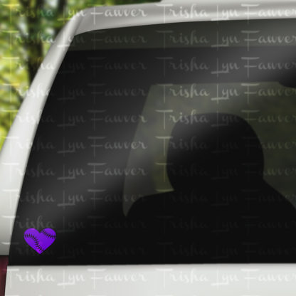Baseball Love Vinyl Decal in Purple
