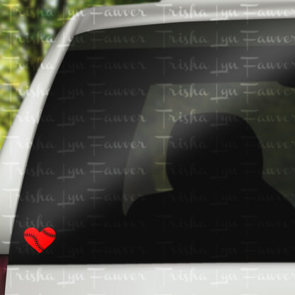 Baseball Love Vinyl Decal in Red