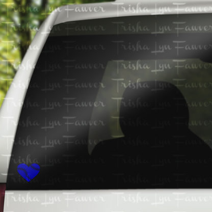 Baseball Love Vinyl Decal in Royal Blue