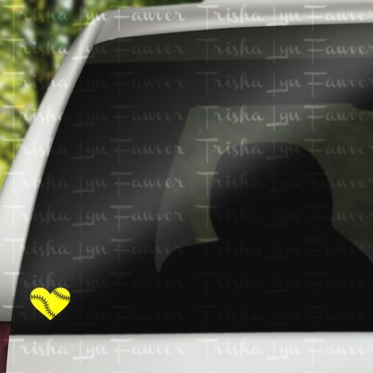 Baseball Love Vinyl Decal in Yelllow