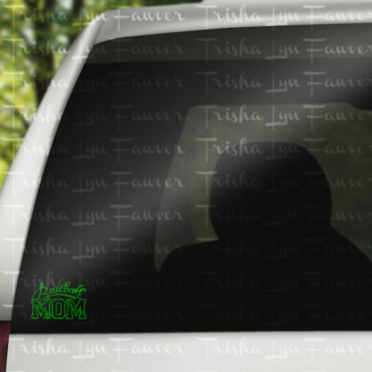 Baseball Mom Vinyl Decal in Green