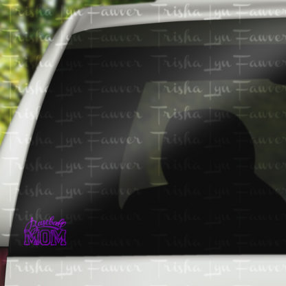 Baseball Mom Vinyl Decal in Purple
