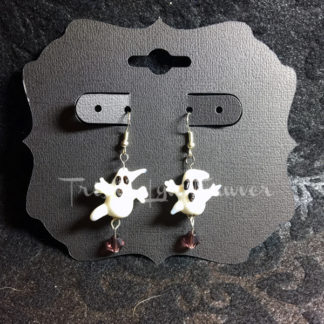 Ghost Lampwork Earrings