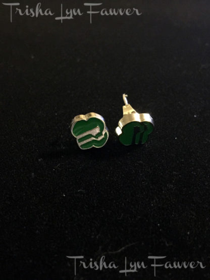 Enamel Girl Scout Post Earrings