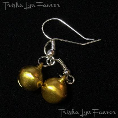 Jingle Bell Earrings in Gold