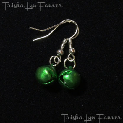Jingle Bell Earrings in Green