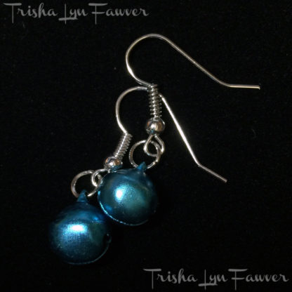 Jingle Bell Earrings in Light Blue