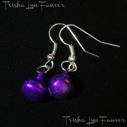 Jingle Bell Earrings in Purple