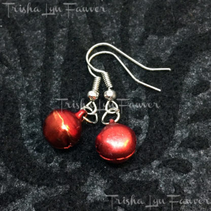 Jingle Bell Earrings in Red