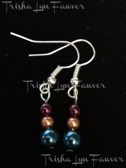 Pearl Trio Earrings in Turquoise