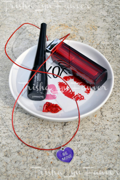 Be Mine Conversation Heart Red Leather Necklace