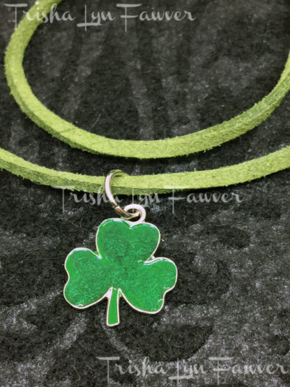 Shamrock Green Suede Necklace