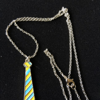 Necktie Sweater Necklaces in Blue & Gold