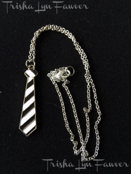 Necktie Sweater Necklaces in Black & White