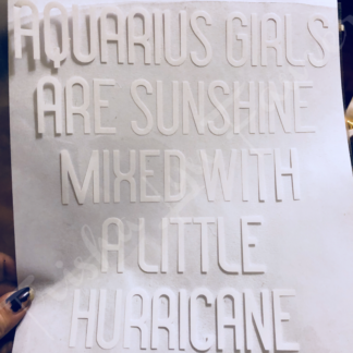 Aquarius Girls Iron-On Decal