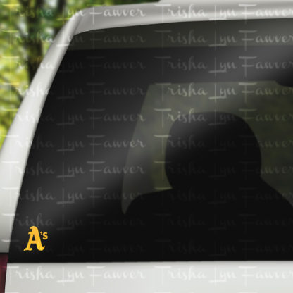 Oakland A's Decal in Yellow