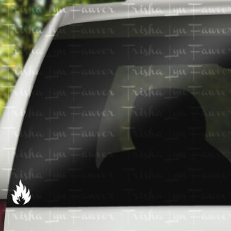 Basic Flame Vinyl Decal