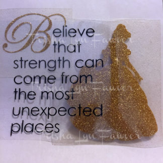 Belle's Strength Iron-On Decal