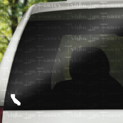 California Silhouette Vinyl Decal in White